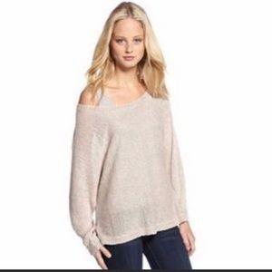 Joie Sweater Beige Linen Lightweight Emilie Dolman